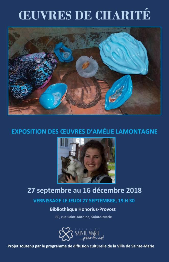 Oeuvres de charité - exposition d'Amélie Lamontagne