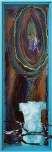 L'appel - peinture - Amélie Lamontagne - La Montagne Ôamelielamontagne-l-appel-photogravure-serigraphie-peinture-plexiglas-pastel-gars-cerne-relief