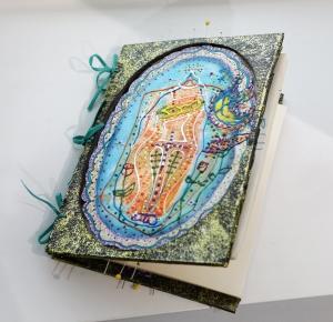 Livre de signatures pour mon exposition « Les trois grâces »